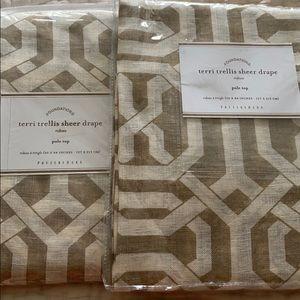 Pottery Barn sheer Drapes / Curtains